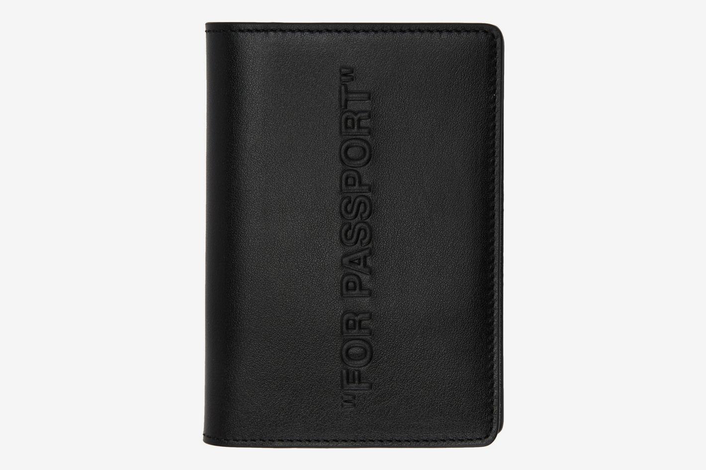 Off-White Black Bold Quote Passport Holder