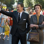 """SAVING MR. BANKS""  SMB_05582FD Walt Disney (Tom Hanks) shows Disneyland to ""Mary Poppins"" author P.L. Travers (Emma Thompson) in Disney's ""Saving Mr. Banks,"" releasing in U.S. theaters limited on December 13, 2013 and wide on December 20, 2013.  Ph: François Duhamel  ©Disney Enterprises, Inc.  All Rights Reserved."