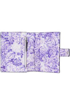 Ganni Floral-Print Leather Wallet