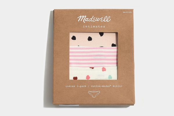 Madewell 3-Pack Cotton-Modal Bikini Undies Set