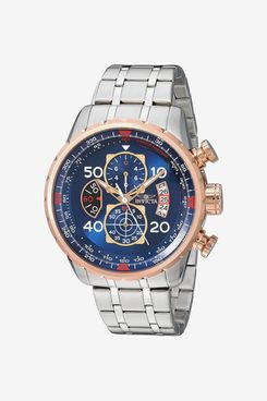 Invicta Men's Aviator 48mm Stainless Steel Chronograph Quartz Watch