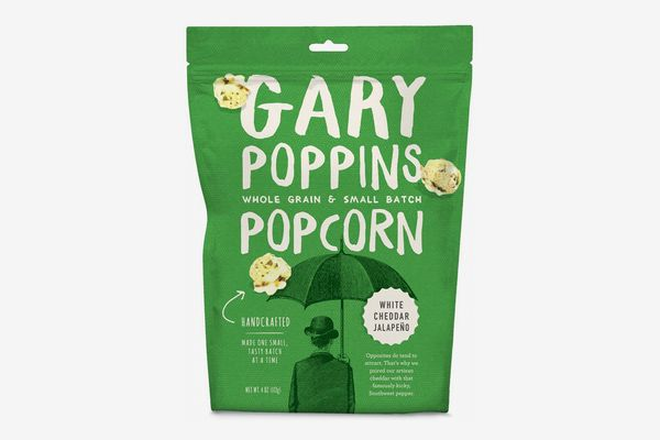 Gary Poppins Popcorn White Cheddar Jalapeño, 4oz - Pack of 4