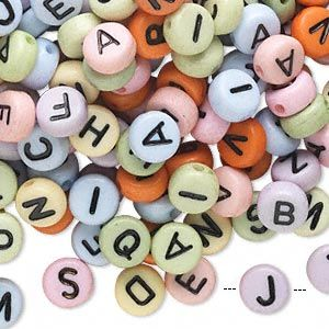 7mm Double-Sided Alphabet Beads