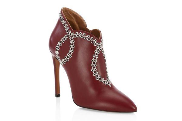 Alaïa Grommet Leather Booties