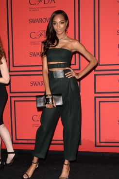 Model Jourdan Dunn attends the 2013 CFDA Fashion Awards on June 3, 2013 in New York, United States.