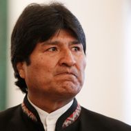 Bolivia's President Evo Morales looks on before the start of the Gas Exporting Countries' Forum at the Kremlin in  Moscow, on July 1, 2013. Russia's President Vladimir Putin met today  leaders of the world's gas exporters in the Kremlin.
