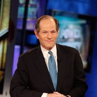 NEW YORK, NY - NOVEMBER 28: Former New York Governor Eliot Spitzer visits FOX Business'