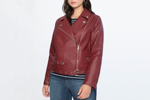 Eloquii Belted Moto Jacket