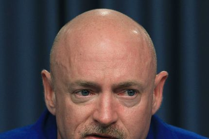 CAPE CANAVERAL, FL - MARCH 31:  Commander Mark Kelly participates in a media availability while attending a 4 day Terminal Countdown Demonstration Test (TCDT), at Kennedy Space Spacecraft Center, on March 31, 2011 in Cape Canaveral, Florida. The TCDT will culminate in a full dress rehearsal for the planned April 19th launch of Space Shuttle Endeavour's final scheduled flight to the International Space Station before being retired.  (Photo by Mark Wilson/Getty Images) *** Local Caption *** Mark Kelly