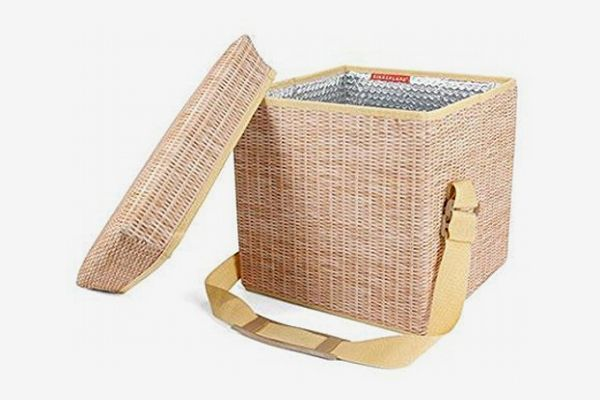 Wicker Picnic Cooler Seat