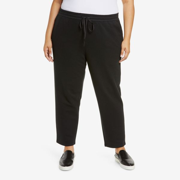 Eileen Fisher Organic Cotton Knit Twill Slouchy Ankle Pants