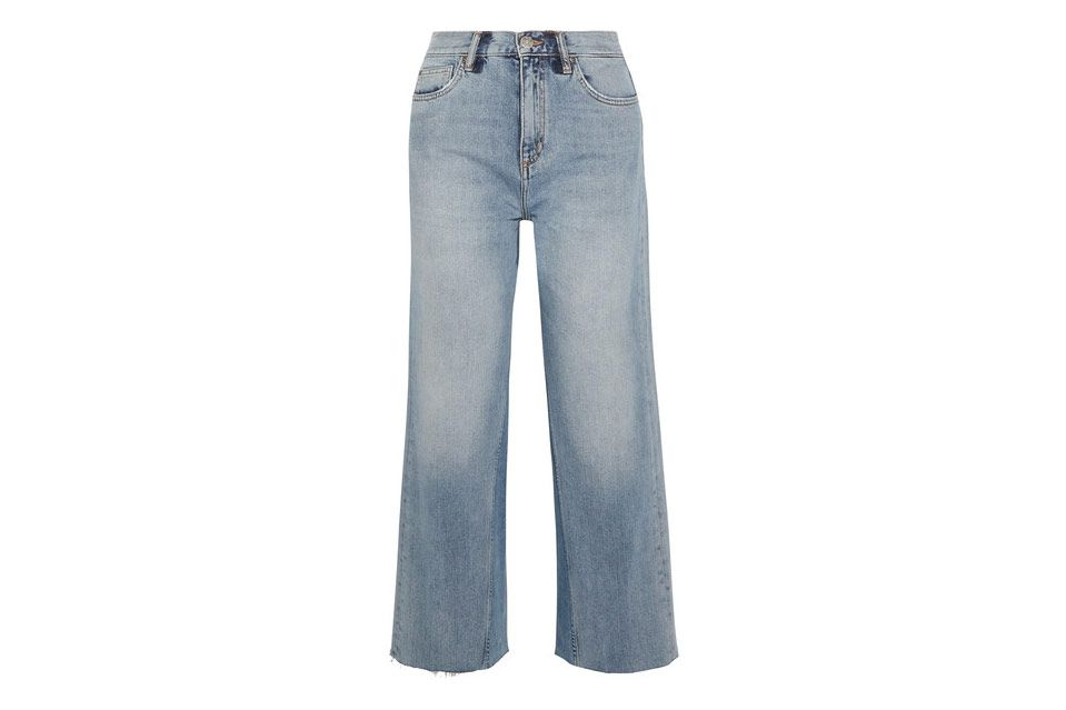 M.I.H Caron Cropped High-Rise Wide-Leg Jeans
