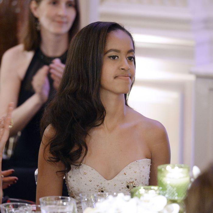 Malia Obama, future Harvard freshman.