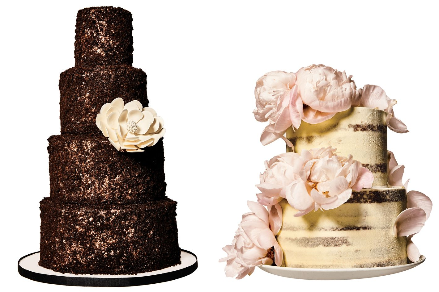 Perfectly Imperfect Wedding Cakes