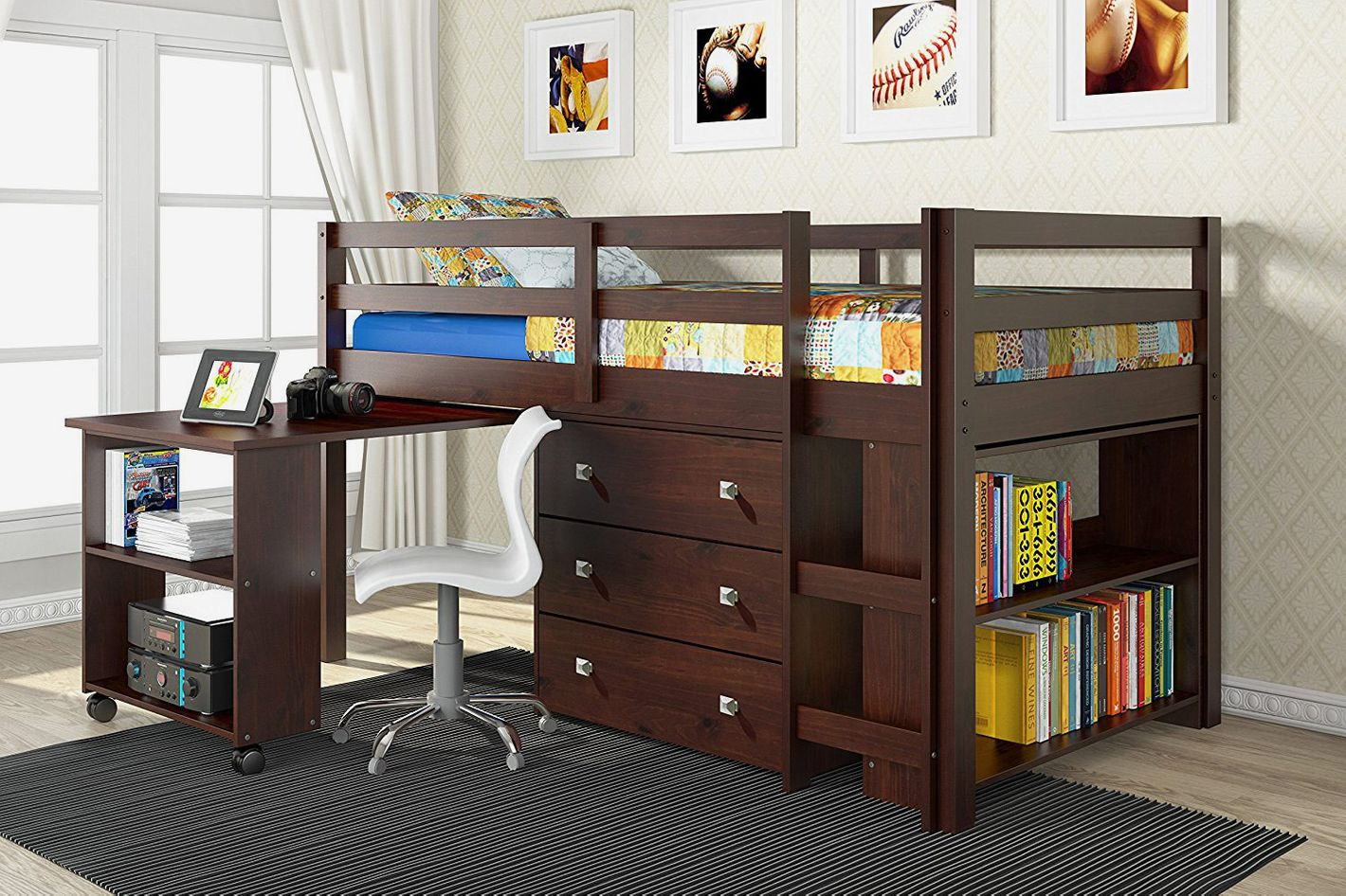 Donco Kids 760-CP Low Study Loft Bed