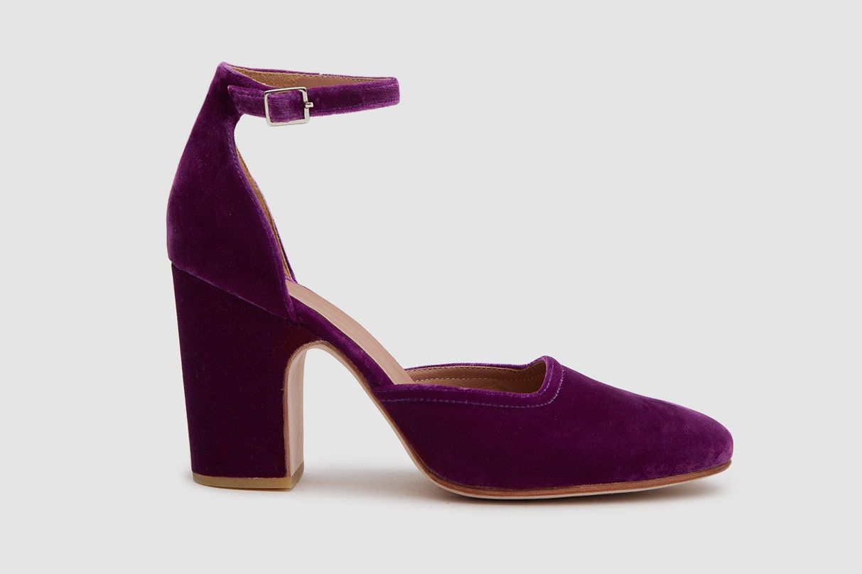 Rachel Comey Bali Closed Toe Mary Jane in Fuschia Velvet