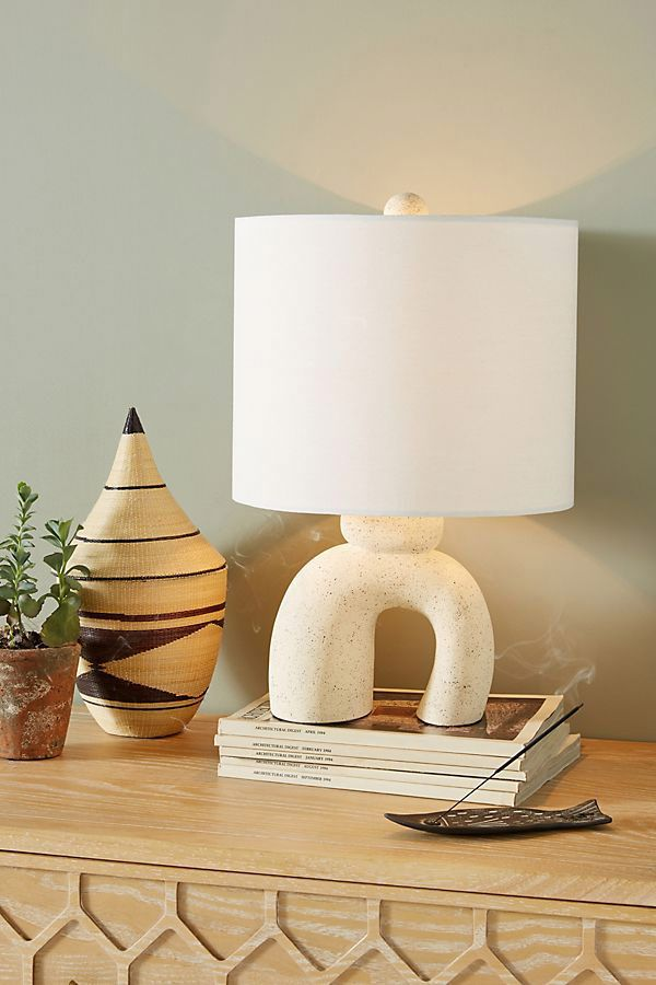 Anthropologie Small Mesa Ceramic Lamp Ensemble