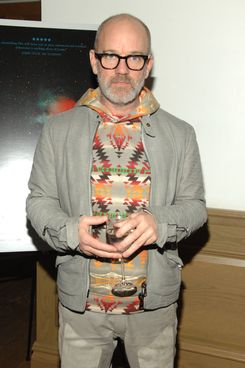 Michael Stipe==New York special screening of UNDER THE SKIN==Crosby Street Hotel, NYC==April 3, 2014==?Patrick McMullan==Photo - Paul Bruinooge/PatrickMcMullan.com====