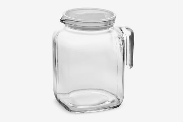 Bormioli Rocco Hermetic Seal Glass Pitcher With Lid and Spout, 68 Ounce