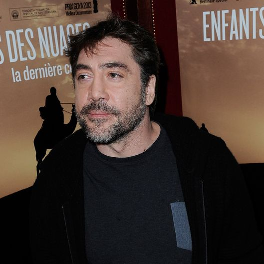 PARIS, FRANCE - FEBRUARY 18:  Javier Bardem attends the 'Sons Of The Clouds: The Last Colony' documentary press conference at Hotel Intercontinental on February 18, 2014 in Paris, France.  (Photo by Kristy Sparow/WireImage)