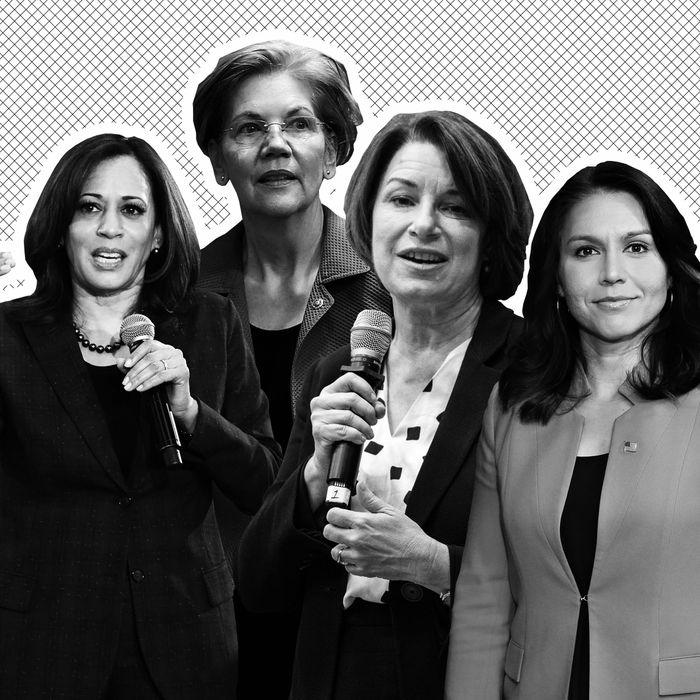 Kamala Harris, Elizabeth Warren, Amy Klobuchar, Tulsi Gabbard.