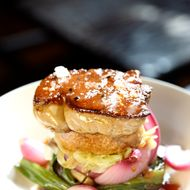 The towering foie at Casa Mono.