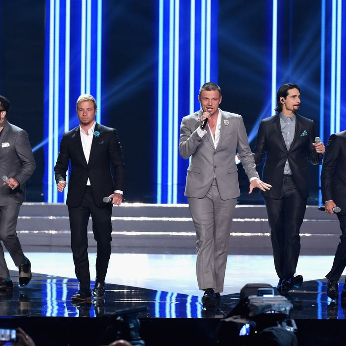 The Backstreet Boys at the 2016 Miss USA pageant. Photo: Ethan Miller/Getty Images