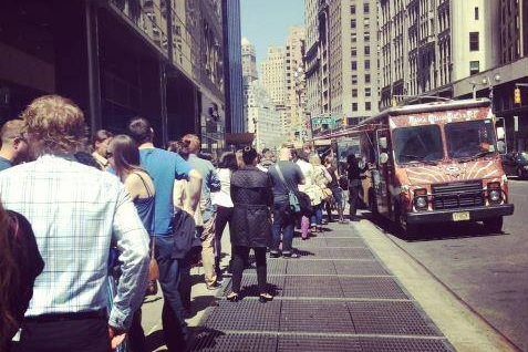 New Yorkers consistently lined up for Cinnamon Snail's tofu subs and raw pizza.