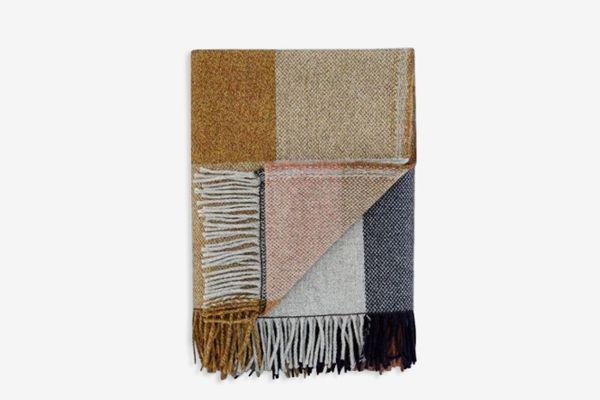 Check Fringe Blanket