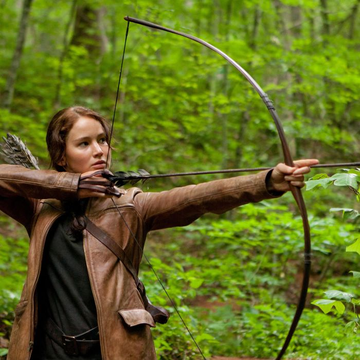 Jennifer Lawrence stars as 'Katniss Everdeen' in THE HUNGER GAMES.