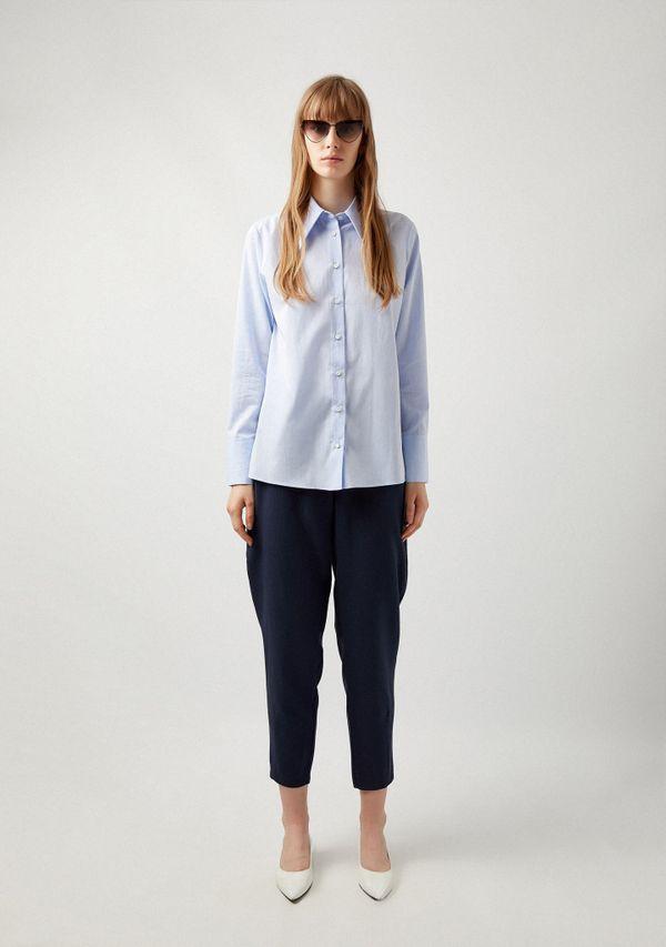 Wide-Collar Shirt