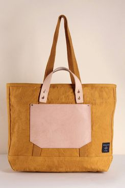 Immodest Cotten East-West Pocket Tote