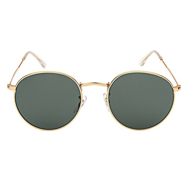 LianSan Classic Metal Frame Round Circle Mirrored Sunglasses