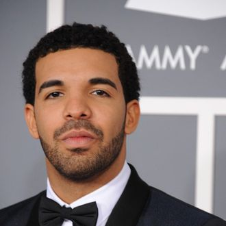 LOS ANGELES, CA - FEBRUARY 10: Recording Artist Drake attends the 55th Annual GRAMMY Awards at STAPLES Center on February 10, 2013 in Los Angeles, California. (Photo by Steve Granitz/WireImage)