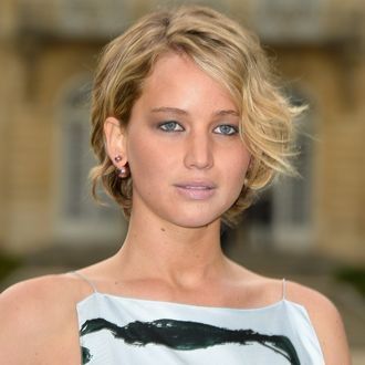 PARIS, FRANCE - JULY 07: Jennifer Lawrence attends the Christian Dior show as part of Paris Fashion Week - Haute Couture Fall/Winter 2014-2015 on July 7, 2014 in Paris, France. (Photo by Pascal Le Segretain/Getty Images)