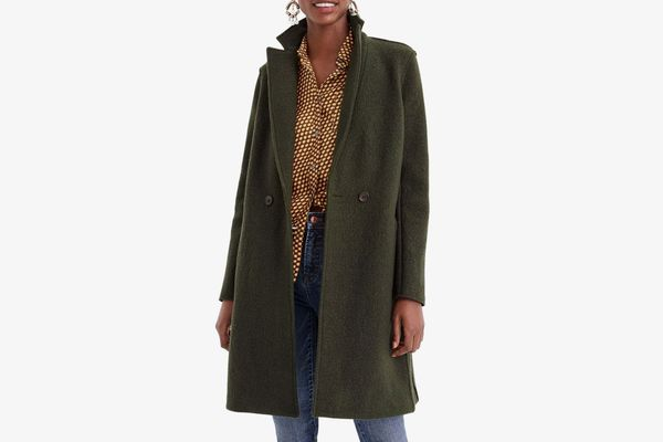 J. Crew Daphne Boiled Wool Topcoat