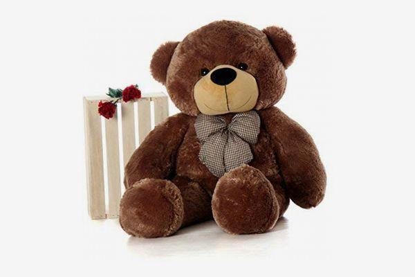 Giant Teddy - Plush Teddy Bear, 4 Feet Tall, Mocha Brown