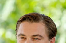 "Actor Leonardo DiCaprio poses for photos promoting his upcoming film, ""Django Unchained"" at the Summer of Sony 4 Spring Edition photo call in Cancun, Mexico, Sunday April 15, 2012."
