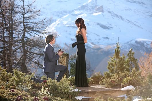"THE BACHELOR - ""Episode 1610"" - In the controversial Season Finale, Ben proposed to Courtney Robertson."