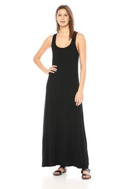 Daily Ritual Women's Jersey Sleeveless Racerback Maxi Dress