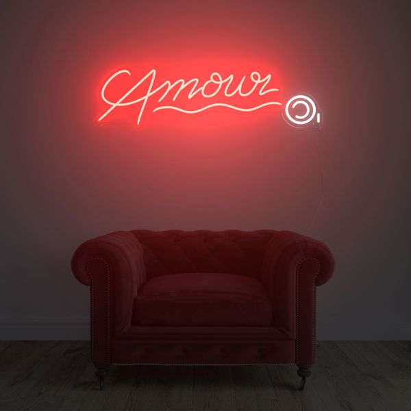 Yellow Pop Amour © LED Neon Sign by André Saraiva