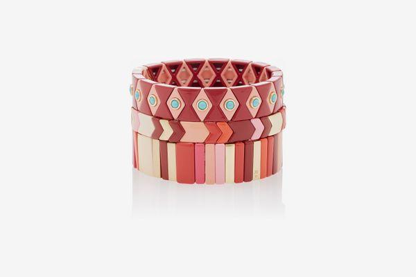 Roxanne Assoulin Set of 3 Desert Rose Bracelets