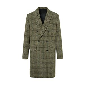 Double-Breasted Prince Of Wales Checked Virgin Wool Overcoat