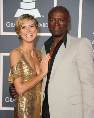 FILES - Picture taken on September 18, 2011 shows German model Heidi Klum and her husband singer Seal at the 63rd annual Primetime Emmy Awards at the Nokia Theatre at LA Live in downtown Los Angeles. German-born supermodel Heidi Klum confirmed on January 23, 2012 she was separating from her husband, British singer Seal, after seven years of marriage. AFP PHOTO / ROBYN BECK (Photo credit should read ROBYN BECK/AFP/Getty Images)