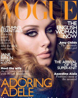 Adele for British <em>Vogue</em>'s October issue.