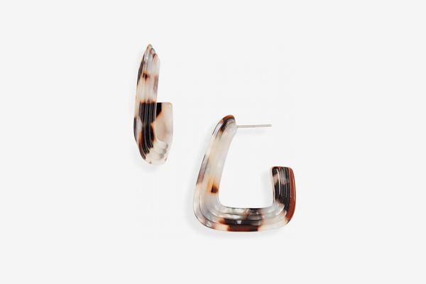 Madewell Ridged Acetate Hoop Earrings
