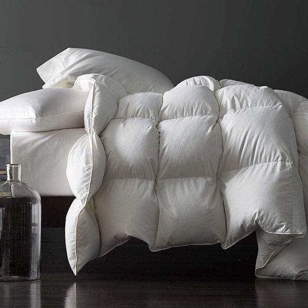 Royoliving Premium Silver Down Comforter All Season – Queen