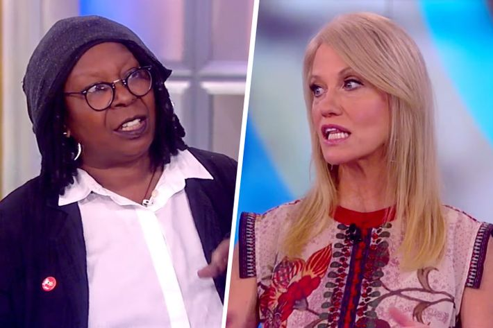 'Get Ready for Pres-Elect Trump': Conway Clashes with Whoopi Goldberg