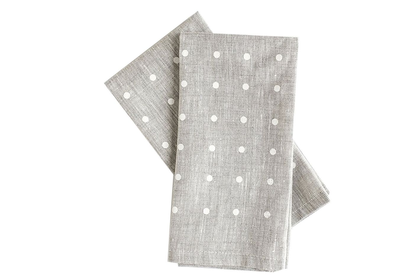 Celina Mancurti White Dots Napkins, Set of 2