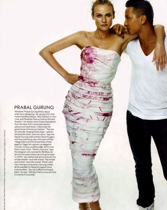 CFDA/Vogue Fashion Fund runner-up Prabal Gurung.